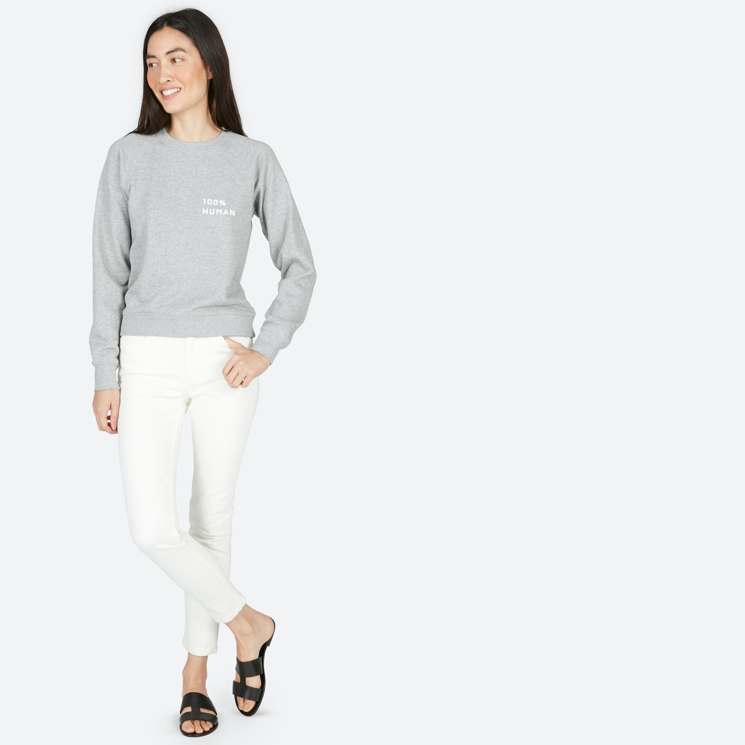 The 100% Human French Terry Sweatshirt In Small Print by Everlane