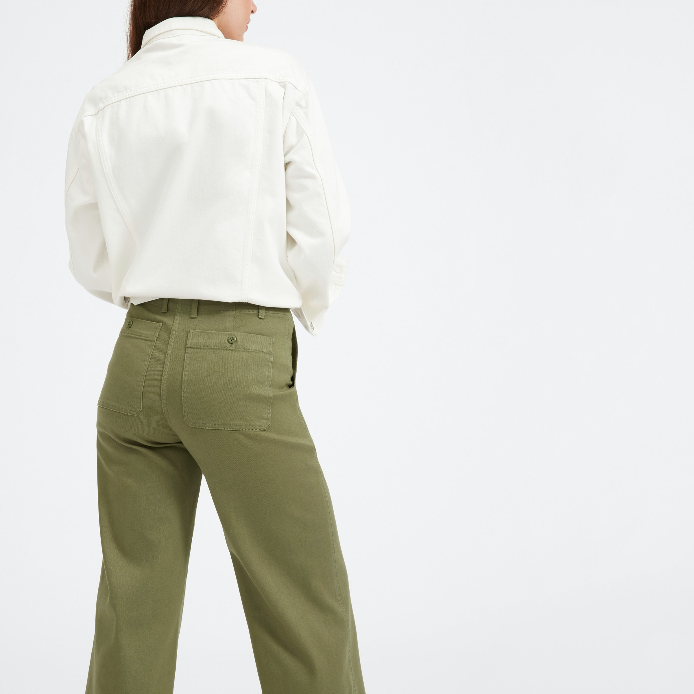 The Wide Leg Crop Utility Pant by Everlane