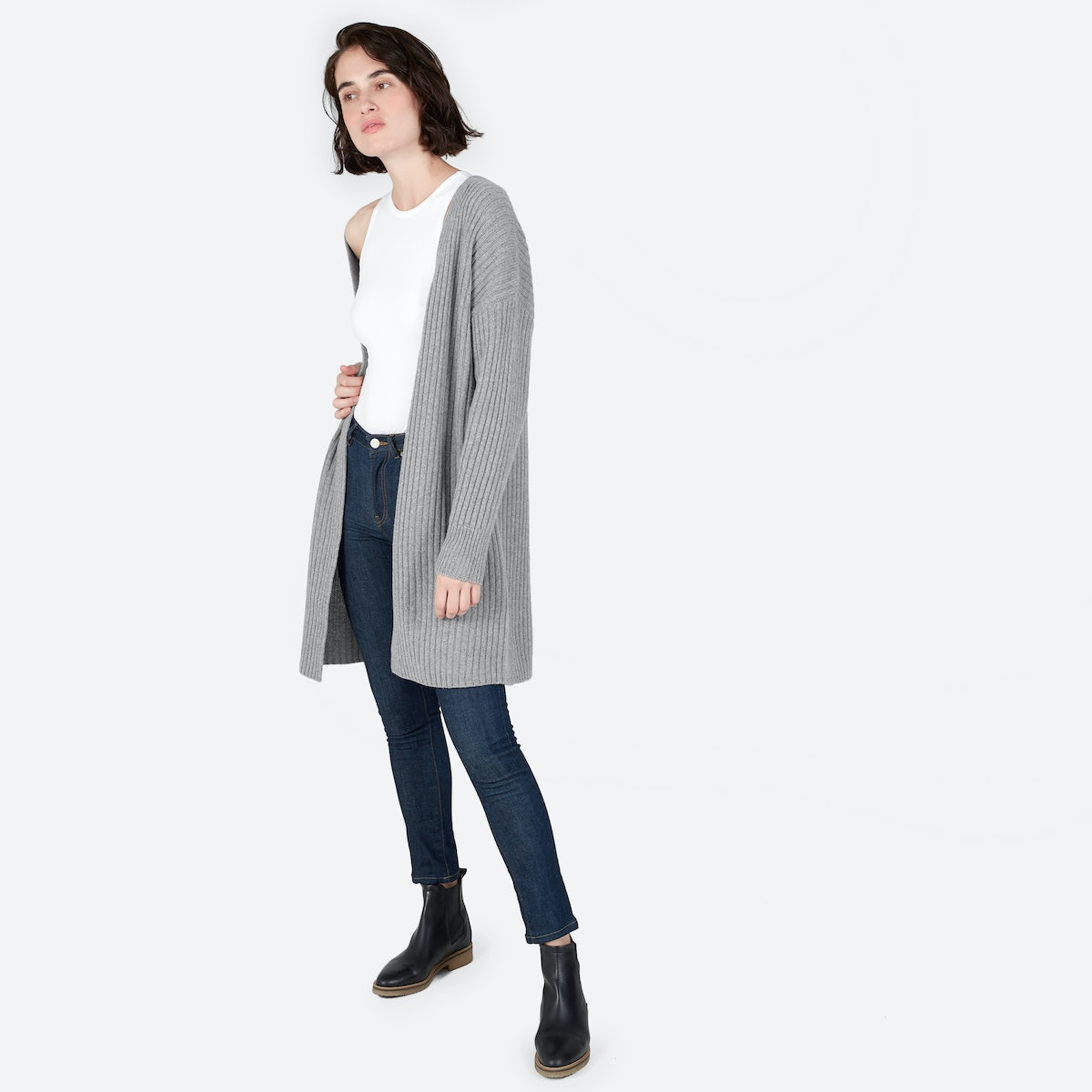 Women's Ribbed Wool-Cashmere Oversized Cardigan | Everlane